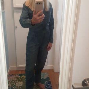 Free People Denim utility jumpsuit